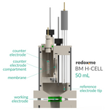BM H-CELL 50 mL - Bottom Mount Electrochemical H-Cell 50 mL