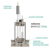 BMM EC 15 mL - Bottom Magnetic Mount Electrochemical Cell