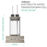 Electrolyte-Gated Transistor Bottom Magnetic Mount Cell - 15 mL, 0.2 cm2
