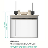 MicroVacuum EQCM Cell for QSH-Dip sensor holder