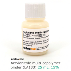 Acrylonitrile multi-copolymer binder (LA133) - 25 mL