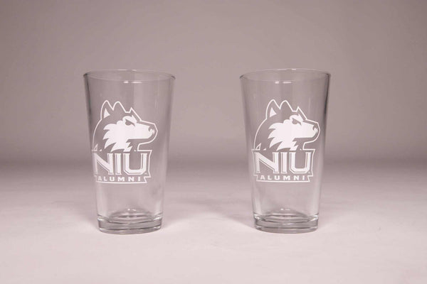 NIU Alumni 16 Oz Pint Glasses