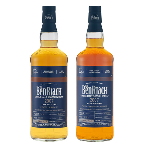BenRiach 12yo Rum and PX Finish Pair