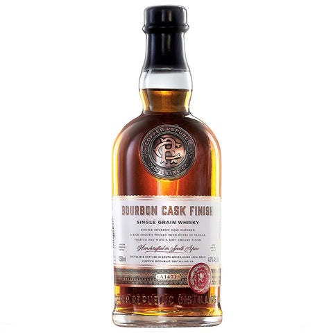 Copper Republic Bourbon Finish Single Grain South African Whisky