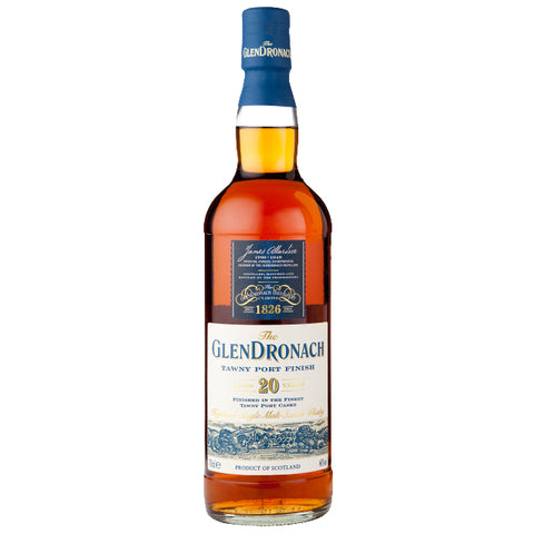 GlenDronach 20yo Tawny Port Highland Scotch Single Malt Whisky
