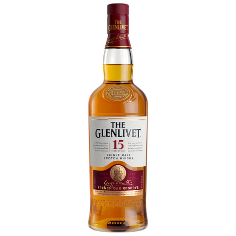 Glenlivet 15 Year Old Speyside Single Malt Scotch Whisky