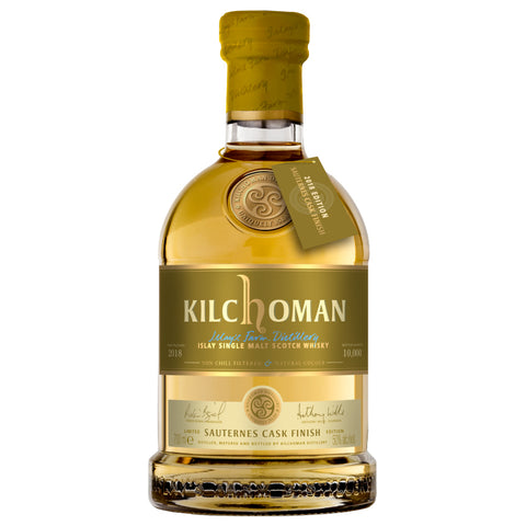 Kilchoman Sauternes Cask Finish Islay Single Malt Scotch Whisky