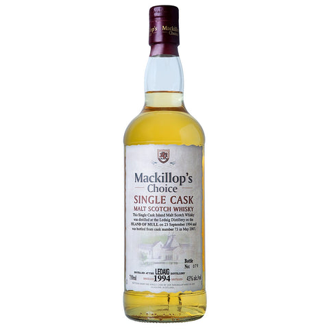 Ledaig 1994 Mackillop's Choice Speyside Single Malt Scotch Whisky