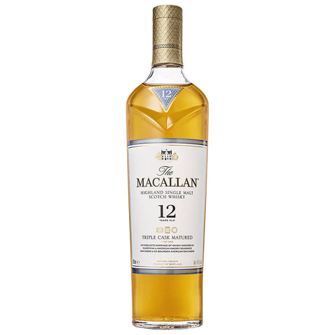The Macallan 12yo Triple Cask Speyside Single Malt Scotch Whisky