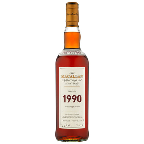 Macallan 1990 Fine & Rare Speyside Single Malt Scotch Whisky