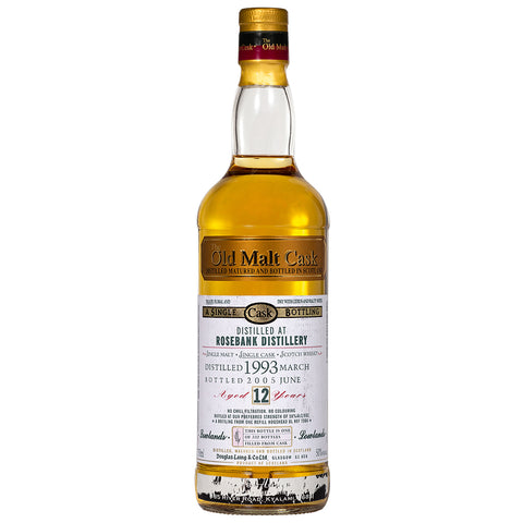 Rosebank 12yo Old Malt Cask Lowland Single Malt Scotch Whisky