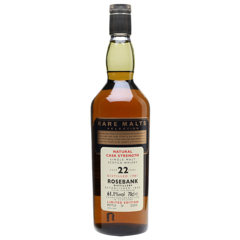 Rosebank 22yo Rare Malts Lowlands Single Malt Scotch Whisky