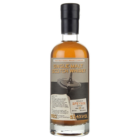 Speyside 15yo Boutiquey Single Malt Scotch Whisky
