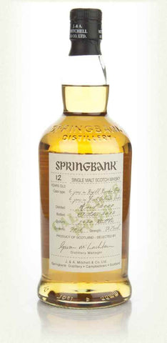 Springbank 12 Calvados wood finish