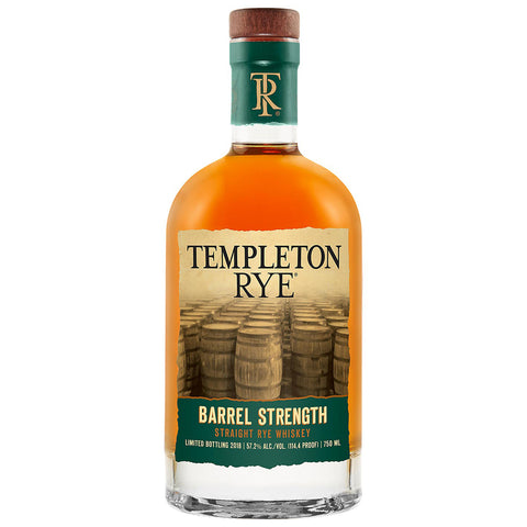 Templeton Rye Barrel Strength 2018 Release American Whiskey