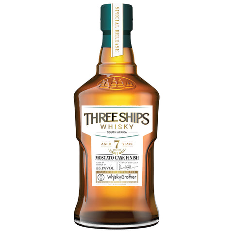 Three Ships 7yo Moscato Finish WhiskyBrother Exclusive Single Malt South African Whisky