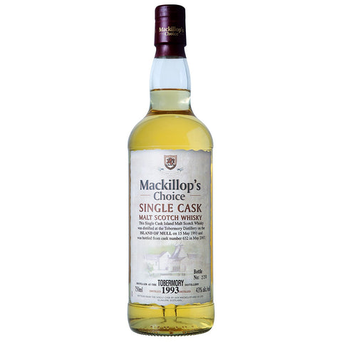 Tobermory 1993 Mackillop's Choice Speyside Single Malt Scotch Whisky