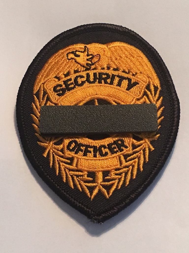 Black Mourning Band Pin for Cloth Embroidered Badges to Honor Fallen Law Enforcement Police Sheriff