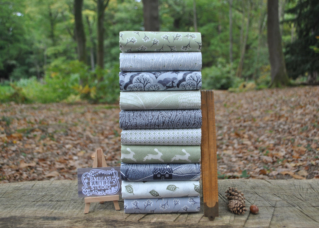 Into The Woods GREEN Fat Quarter Bundle