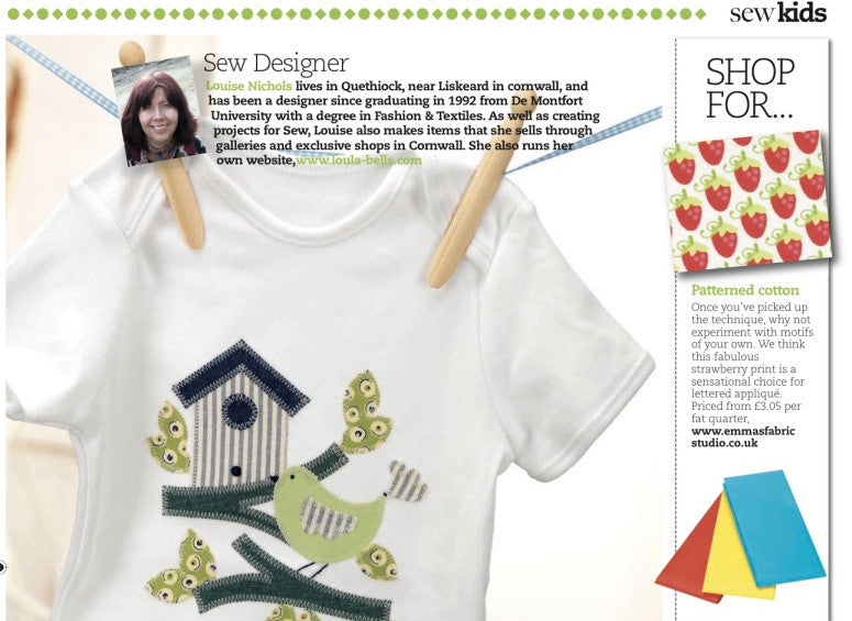 Sew Magazine Feature - June 2012