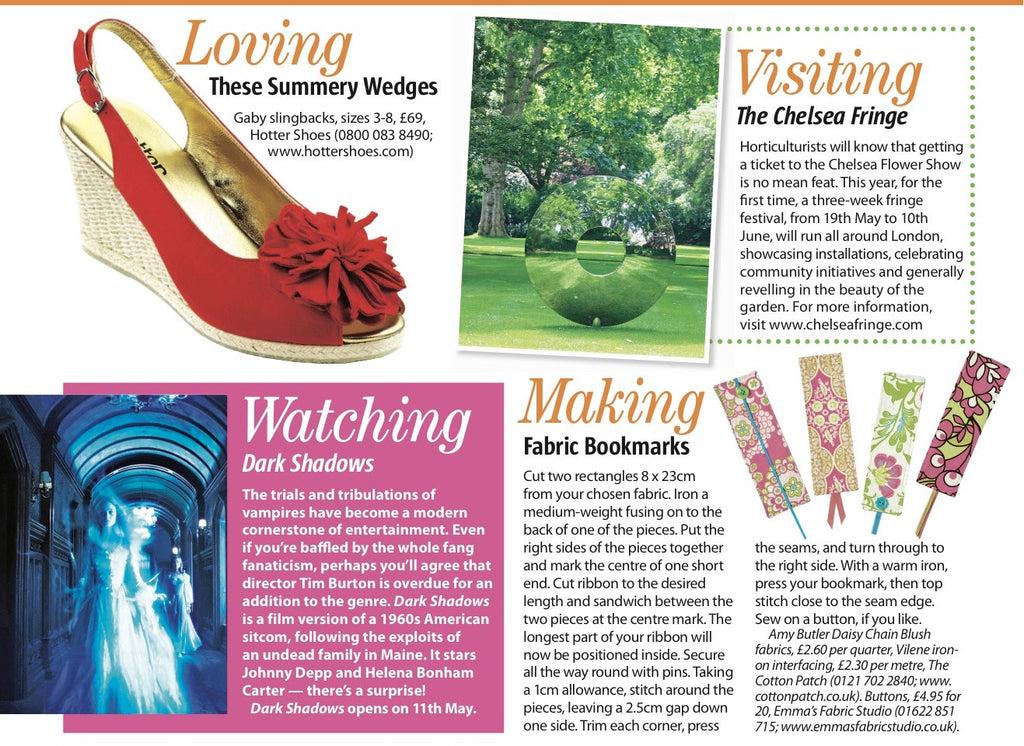 Woman's Weekly Magazine Mention - May 2012