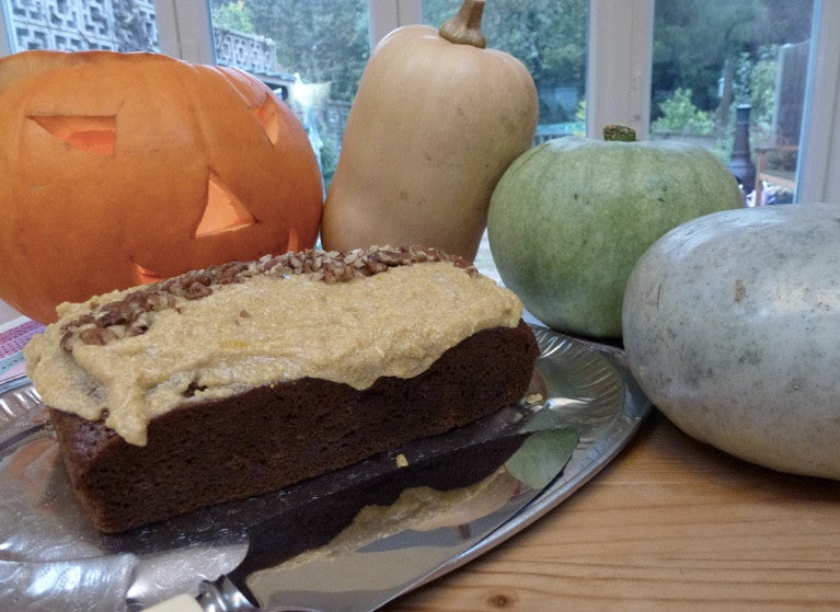 Halloween Sewing Party and a Pumpkin Loaf Cake