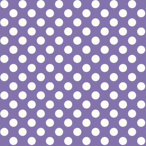 FQ0154 Polka Spots PURPLE - Makower UK