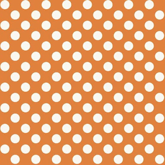 FQ0156 Polka Spots ORANGE - Makower UK