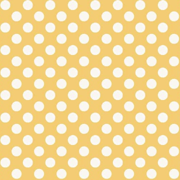 FQ0157 Polka Spots YELLOW - Makower UK