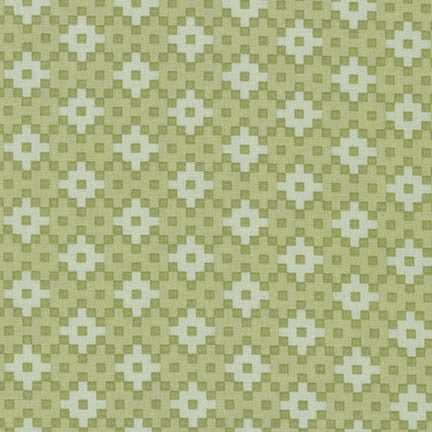 FQ0152 Polka Spots GREEN - Makower UK