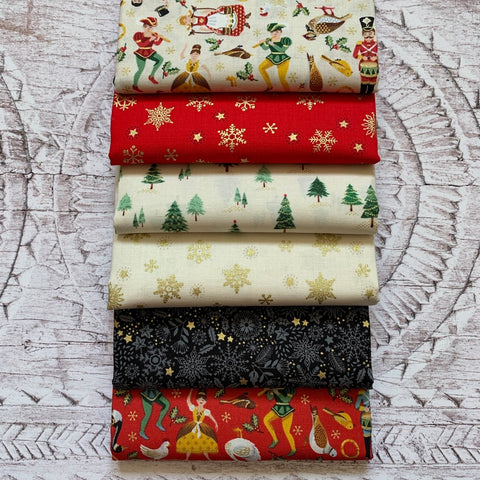 The 'Scandi Christmas 4 RED' Fat Quarter Bundle - Makower