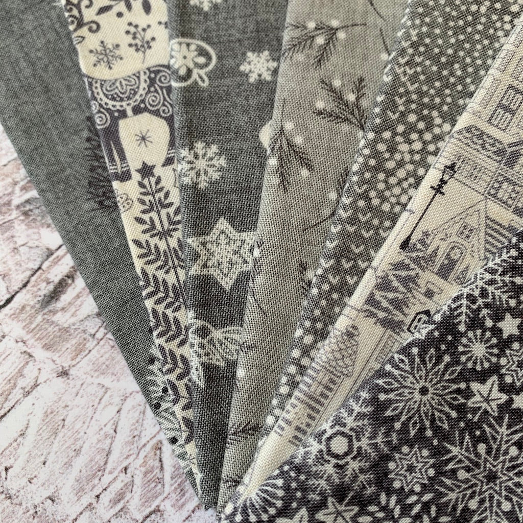 The 'Scandi Christmas 2020 GREY' Fat Quarter Bundle - Makower
