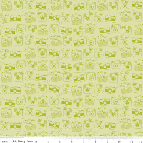 FQ1077 Linen Texture G5 GRASS GREEN - Makower UK