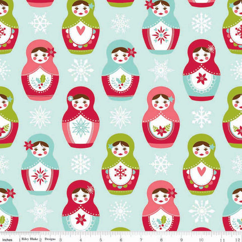 FQ0258 Merry Matryoshka - Carly Griffith - Riley Blake Designs - FLANNEL