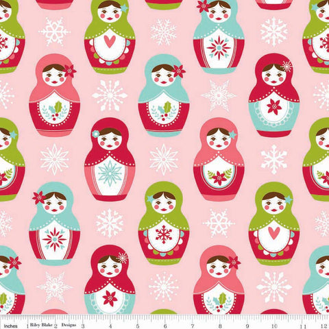 FQ0259 Merry Matryoshka - Carly Griffith - Riley Blake Designs - FLANNEL
