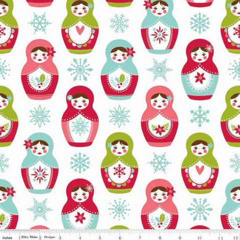 FQ0262 Merry Matryoshka - Carly Griffith - Riley Blake Designs - FLANNEL