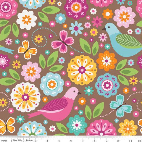 Heavy Cotton Print - Tropical Birds