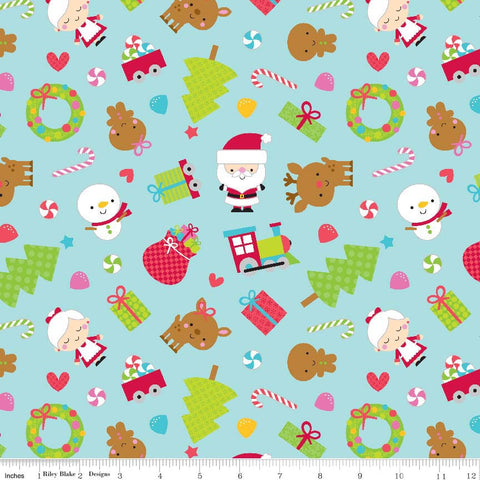 The 'Becky' Fat Quarter Bundle - Santa's Workshop - Riley Blake Designs