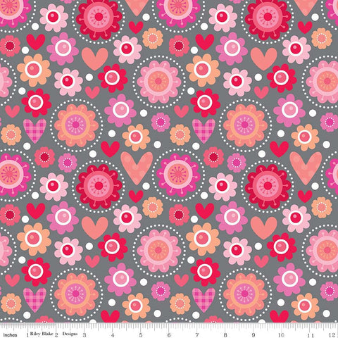 FQ0307 Feeling Groovy - Doodlebug Designs - Riley Blake - FLANNEL