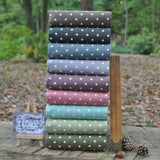 The 'Linen Look Cotton Spots' Fat Quarter Bundle