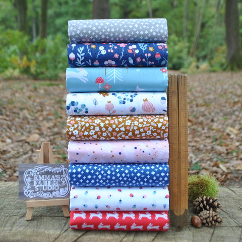 The 'Bright Rainbow' Fat Quarter Bundle - Linen Texture - Makower
