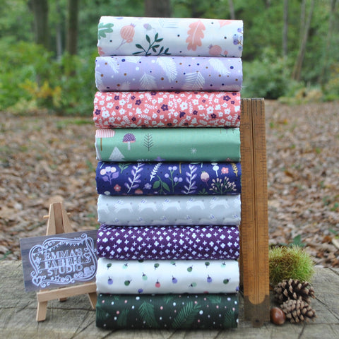 The 'Green' Fat Quarter Bundle - Spectrum Solids - Makower