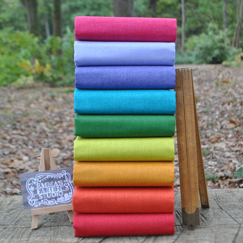 The 'Bright Rainbow' Fat Quarter Bundle - Spectrum Solids - Makower