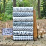 The 'Scandi Christmas 4 GREY' Fat Quarter Bundle - Makower