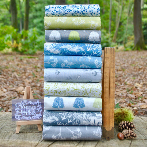 The 'Matilda PURPLE' Fat Quarter Bundle - Indigo Fabrics