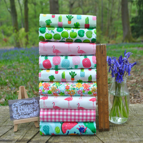 The 'Hearts' Half Metre Fabric Bundle
