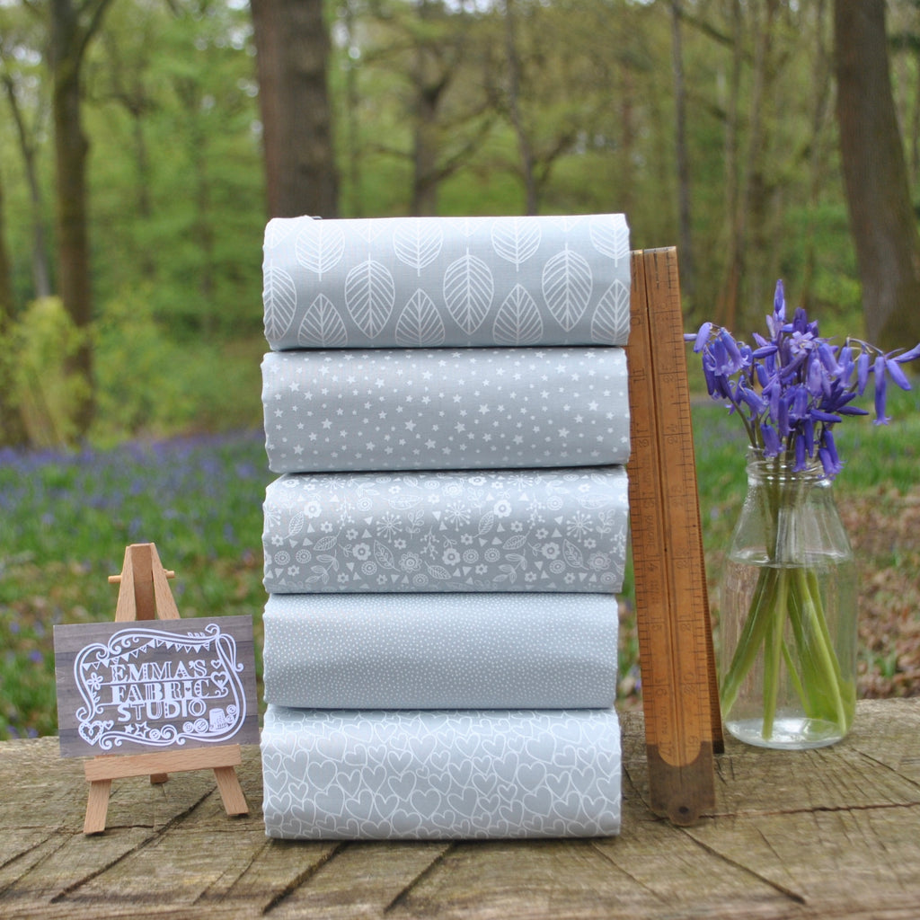 The 'Grey Essentials' Fat Quarter Bundle - Makower UK