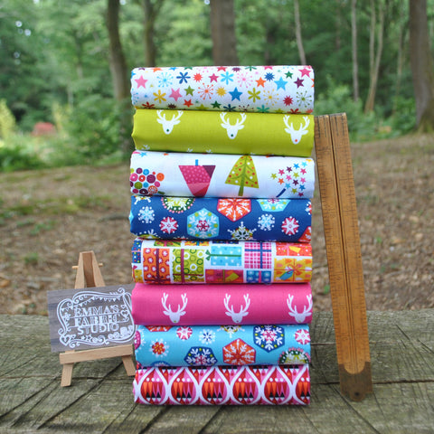 The 'Little Town' Fat Quarter Bundle - Matilda - Indigo Fabrics