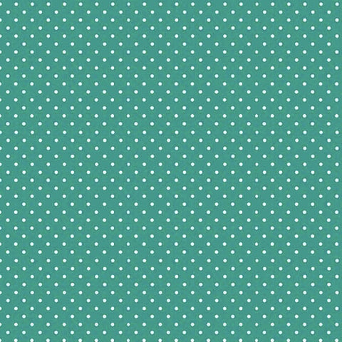 FQ0168a Spot On DARK TEAL - Makower UK