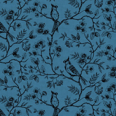 The 'Elizabeth Hartman TEAL BLUE and NAVY' Fat Quarter Bundle - Robert Kaufman